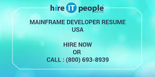 Sample Resume For Mainframe Production Support by Mainframe Developer Resume Hire It People We Get It Done