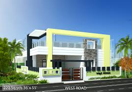 way2nirman 220 sq yds 36x55 sq ft west face house 2bhk elevation