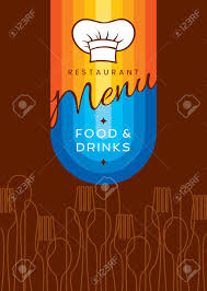 restaurant menu card design template creative vector royalty