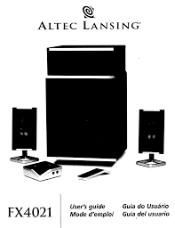 altec lansing fx4021 quick connect card user s guide