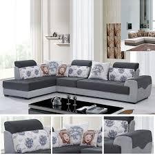canap gris perle canapé moderne en tissu gris perle et foncé salon meubles maison le