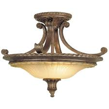 Traditional Ceiling Light Fixtures Traditional Bronze Semi Flush Uplighter Ceiling Light For Low Ceilings