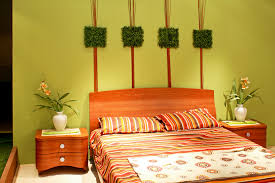 Feng Shui Colors For Bedroom Modern Bedroom With Green Color Of Wall Interior Decor Also Has