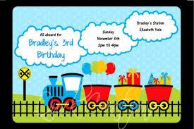 birthday invitations train birthday invitation