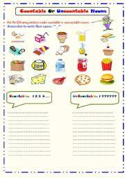 Countable And Uncountable Nouns Practice Pdf Countable And Uncountable Nouns Worksheet By Ms Q8
