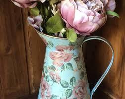 Metal Jug Vase Decorative Jug Etsy