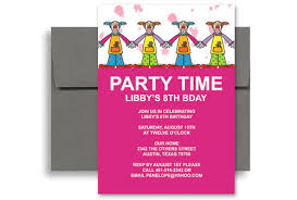 example invitation birthday party addnow info