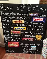 gift for turning 60 age the hill 60th birthday card poster using candy bars