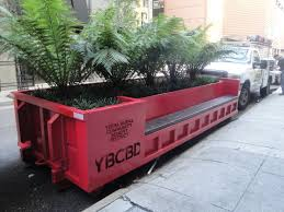 San Francisco Urban Garden - parklet made from converted shipping container in san francisco
