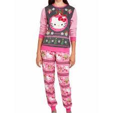hello womens fleece sweater pajamas sleep set