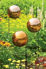 Gazing Balls For Gardens Gazing Ball Copper Colored Stainless Steel Gazing Globe