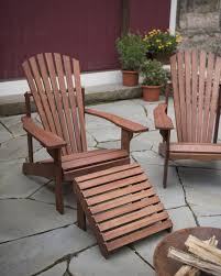 adirondack chair and ottoman eucalyptus gardener u0027s supply