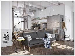 canapé style industriel salon style industriel canape gris parquet chevron table appoint