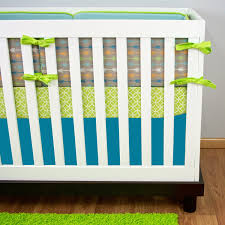 Green And White Crib Bedding Blue And Green Crib Bedding White Bed