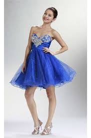 royal blue tulle sweetheart royal blue tulle cocktail prom dress corset back