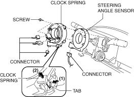 mazda 3 service manual clock spring removal installation
