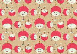 lychee fruit free vector lychee fruit pattern download free vector art stock