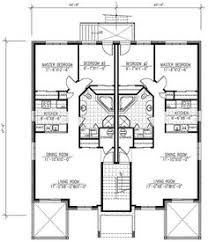 first floor plan of southwest multi family plan 65865 duplex