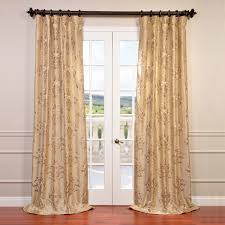 Raw Silk Drapery Panels by Embroidered Faux Silk Curtains Patterned Faux Silk Curtains