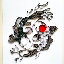 quilled paper koi fish yin yang koi fish paper