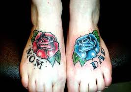 looking for unique memorial tattoos tattoos mom and dad roses