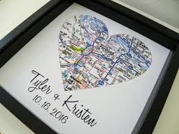 unique wedding gift personalized wedding map heart custom gift for define