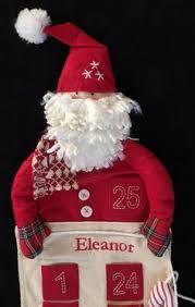 Pottery Barn Christmas Ornaments Ebay by Pottery Barn Kids Santa Face Advent Christmas Countdown Calendar