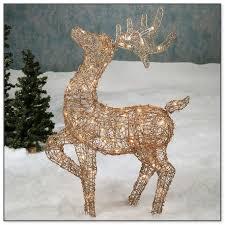 lighted reindeer lighted grapevine reindeer christmas decoration