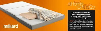 Hi Gear Folding C Bed Milliard Tri Folding Mattress Ultra Soft Washable