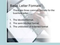 Semi Block Letter Format Business Letter Letter Format