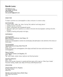 Sample Fitness Instructor Resume Dancer Resume Template Acting Resume Template Best 25 Acting