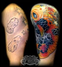 koi cover up by state of art tattoo on deviantart