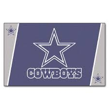 fanmats dallas cowboys 4 ft x 6 ft area rug 6270 the home depot