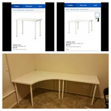 Ikea Corner Desk White by Linnmon Adils Corner Desk And Regular Desk From Ikea Youtube