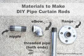diy industrial pipe curtain rods boys room update making lemonade