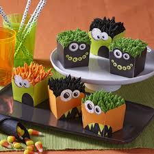 Halloween Baby Shower Cupcakes by Hair Raising Halloween Monster Cupcakes Wilton