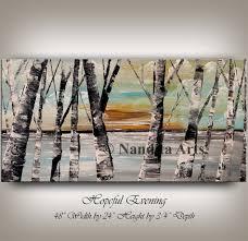 painting aspen tree painting birch tree art autumn birch