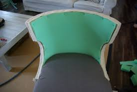 How To Reupholster A Bar Stool No Sew Full Reupholster Chair