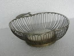 unique fruit bowl vintage unique apple shape brass wire fruit basket nice patina