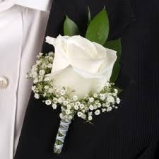 boutonniere flower white boutonniere and corsage wedding package