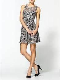 rhianna u0027 illusion yoke lace fit u0026 flare dress fit flare dress