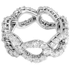 platinum diamonds rings images Stunning harry winston platinum diamond loop ring at 1stdibs jpg