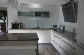 credence cuisine blanc laqué crdence cuisine inox credence en inox pour cuisine avec 1 decoupe