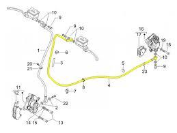 brake hose rear piaggio vespa gts 250 zapm451 gts 125 i e