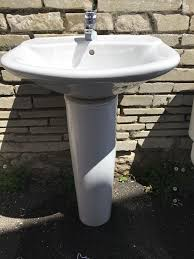 roca bathroom suite bath toilet and sink with pedestal sell