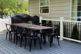 Trex Furniture Composite Table And Our Finished Deck Chris Loves Julia