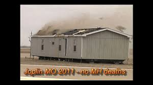 manufactured home hit by a tornado and high winds youtube