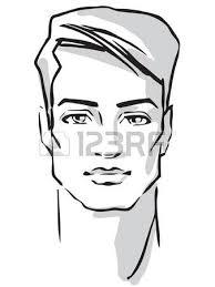 man face hand drawn fashion model royalty free cliparts vectors