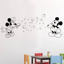 mickey and minnie blowing bubbles wall stickers decals black mickey and minnie blowing bubbles wall decal in a playroom