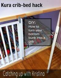 Conversion Cribs Beds How To Convert The Lower Portion Of A Kura Bunk Bed Into A